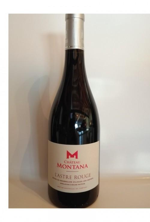 Château Montana - L'Astre Rouge - Côtes du Roussillon AOP